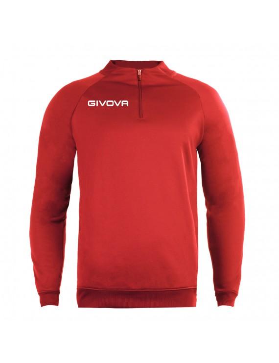 Кофта Givova TECNICAL SHIRT HALF ZIP 500 RED