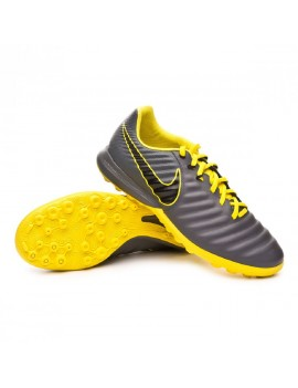 Football Boot Tiempo LegendX VII Pro Turf Dark grey-Black-Optical yellow