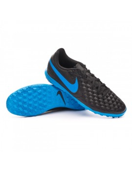 Football Boot Tiempo Legend VIII Club Turf Black-Blue hero