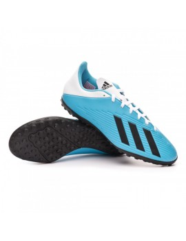 Football Boot X 19.4 Turf Bright cyan-Core black-Shock pink
