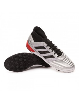 Football Boot Predator 19.3 Turf Silver metallic-Core black-Hi red