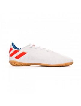 Futsal Boot Kids Nemeziz Messi 19.4 IN White-Solar red-Football blue