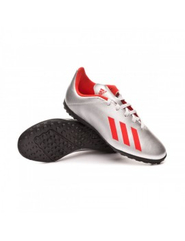 adidas Kids X 19.4 TF - Silver Metallic/Hi-Res Red/White