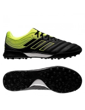 adidas Kids Copa 19.3 TF - Core Black/Solar Yellow