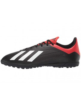 adidas Kids X 18.4 TF - Core Black/Off White/Active Red