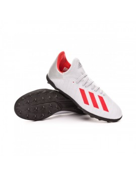 Football Boot X 19.3 Turf Niño Silver metallic-Hi red-White