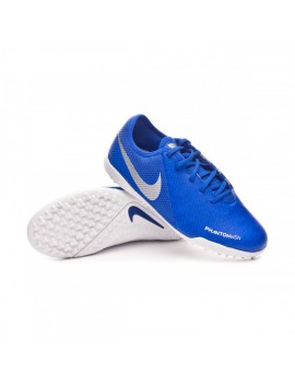Football Boot Kids Phantom Vision Academy Turf Racer blue-Chrome-White