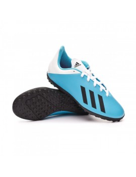 Football Boot X 19.4 Turf Niño Bright cyan-Core black-Shock pink